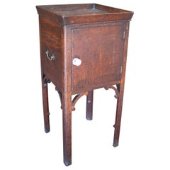 19th Century English Mahogany Side Table w/ Door