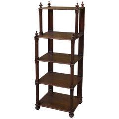19th Century English Mahogany Sideboard, Server, Bookshelf