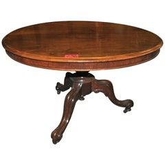 19th Century English Mahogany Tilt-Top Table