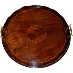 19th Century English Mahogany Tray