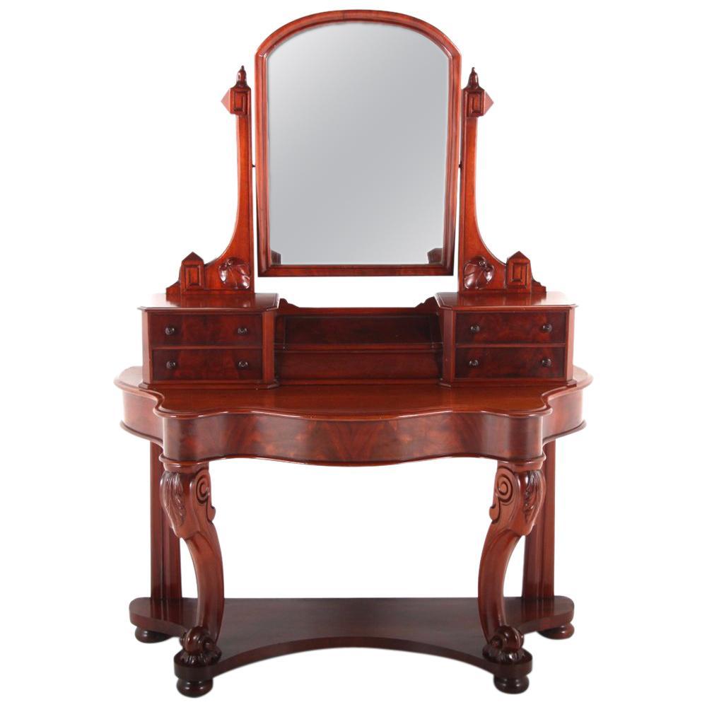 19th Century English Mahogany Vanity