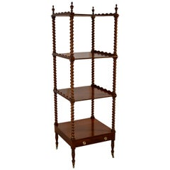 19th Century English Mahogany Whatnot