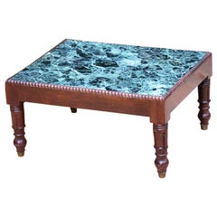 19th Century English Marble-Top Coffee Table