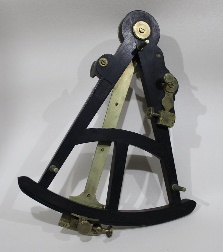 19th Century English Marine Surveyors Brass Sextant by Watkins & Hill For Sale 3