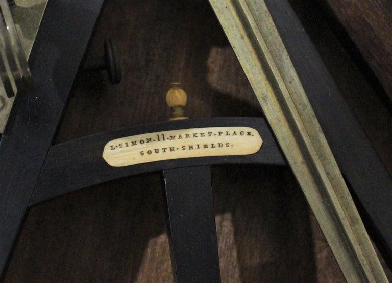 19th Century English Marine Surveyors Brass Sextant In Fair Condition For Sale In Hamilton, Ontario