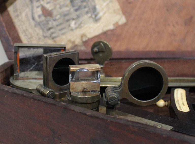 19th Century English Marine Surveyors Brass Sextant For Sale 2