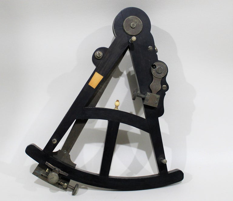 19th Century English Marine Surveyors Brass Sextant For Sale 3
