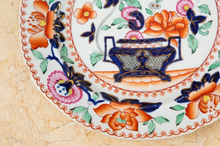 Hand-Painted 19th Century English Mason's Ironstone Plates For Sale