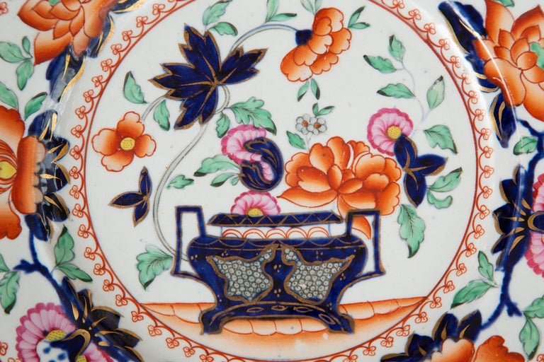 19th Century English Mason's Ironstone Plates In Good Condition For Sale In WEST PALM BEACH, FL
