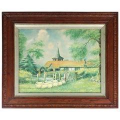 19th Century English Naïve School Watercolor