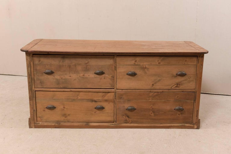19th Century English Natural Wood Kitchen Island with Ample Storage For Sale 5
