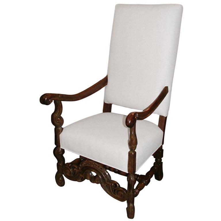19th Century English Oak Armchair
