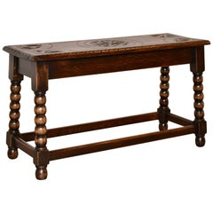 19th Century English Oak Bench