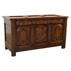 19th Century English Oak Blanket Chest