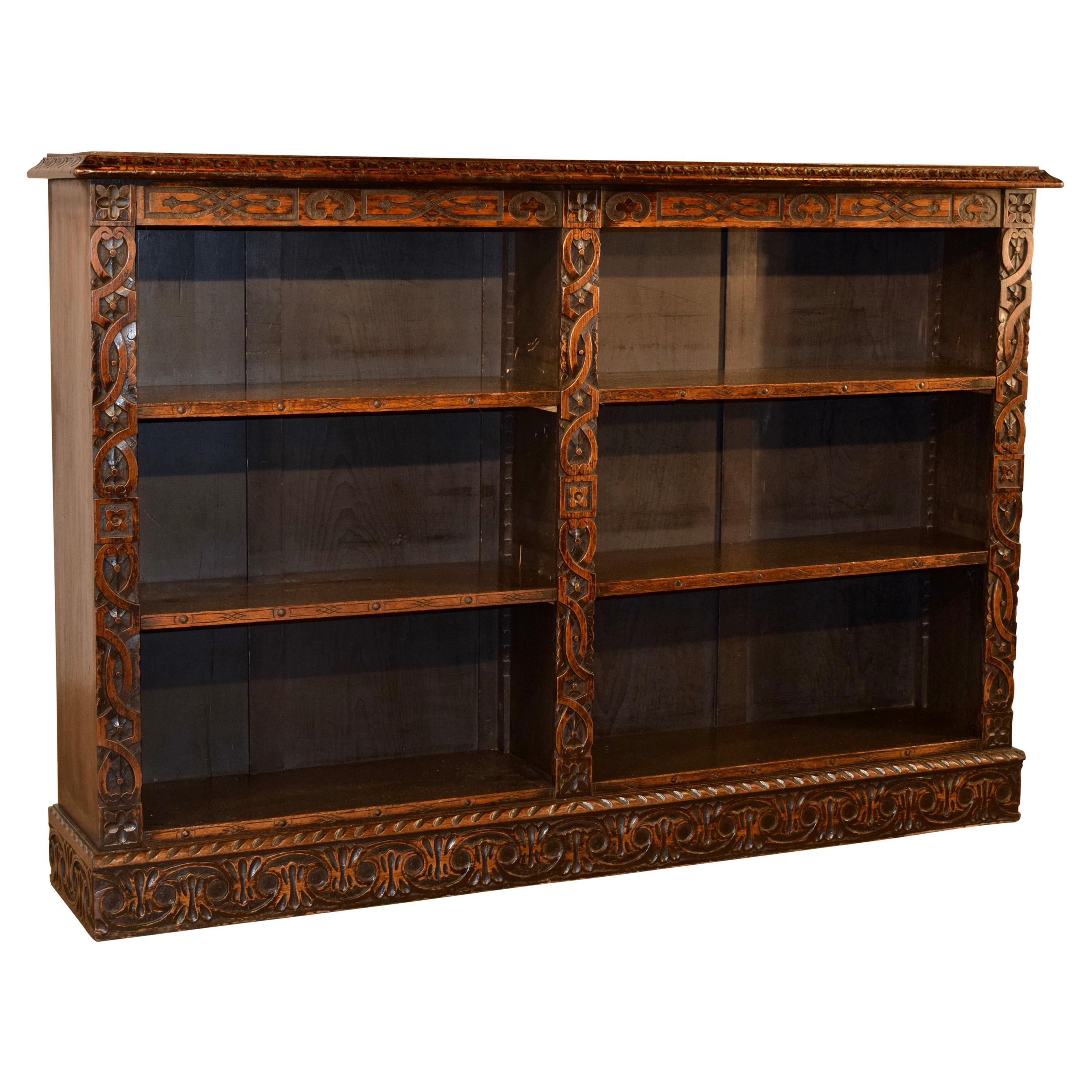 19th Century English Oak Bookcase