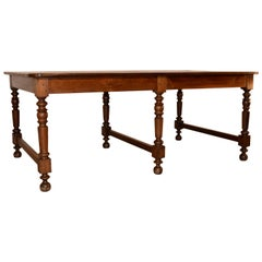 19th Century English Oak Draper's Table
