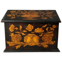 19th Century English Oak Inlaid Letter Box