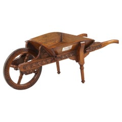 19th Century English Oak Miniature Presentation Wheelbarrow