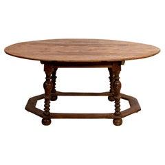 19th Century English Oak Oval Table