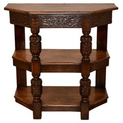 19th Century English Oak Shelf