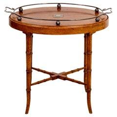 19th Century English Oak Tray Table