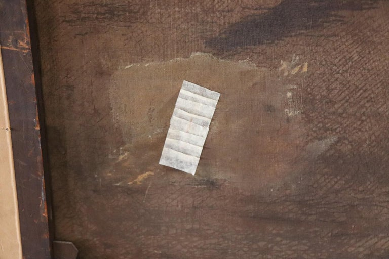 19th Century English Oil Painting on Canvas with Golden Frame by George Armfield For Sale 12