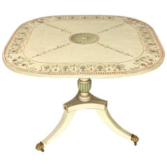 19th Century English Painted  Regency Breakfast or Center Table
