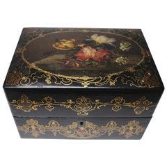 19th Century English Paper Mâché Box