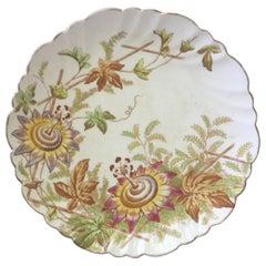 19th Century English Passiflora Plate
