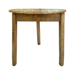 19th Century English Pine Cricket Table with Old Finish