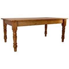 19th Century English Pine Farm Table