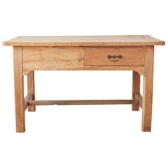 19th Century English Pine Farmhouse Kitchen Table
