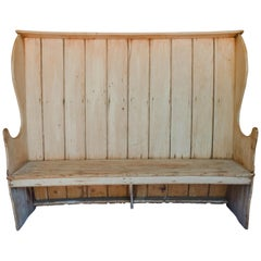 19th Century English Pine Settle