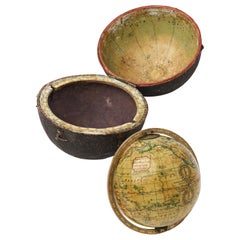 19th Century English Pocket Globe By Newton, London 1817