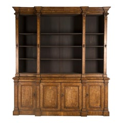 19th Century English Pollard Oak Bookcase