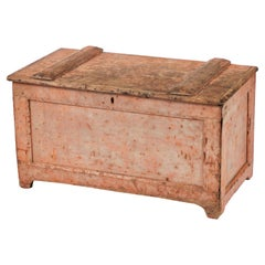 19th Century English Primitive Trunk or Blanket Chest
