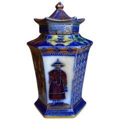 19th Century English Probably Mason's Polychrome Porcelain Hexagonal Jar