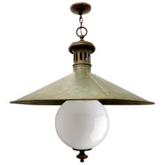 19th Century English Railroad Pendant Light