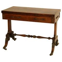 19th Century English Regency Backgammon / Console Table