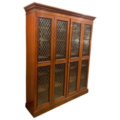 19th Century English Regency Bookcase or Gun Case with Double Folding Doors