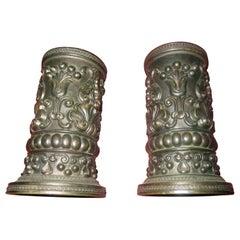 19th century English Regency Bronze Petite Spill Vases