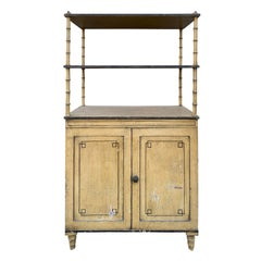 19th Century English Regency Cabinet with Etagere