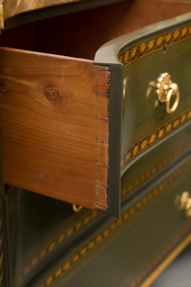 19th Century English Regency Chest of Drawers  Later Custom Painted For Sale 5