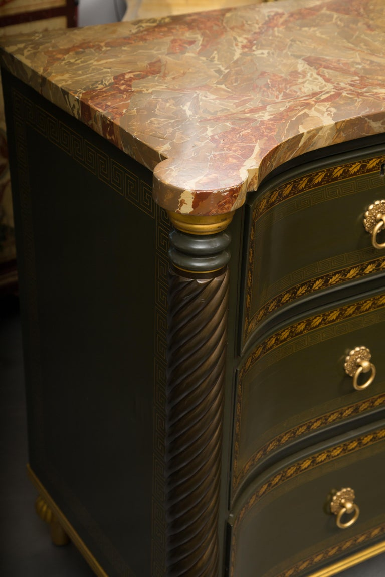 19th Century English Regency Chest of Drawers  Later Custom Painted For Sale 6
