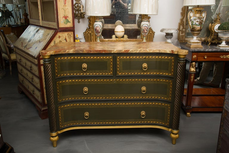 19th Century English Regency Chest of Drawers  Later Custom Painted For Sale 7