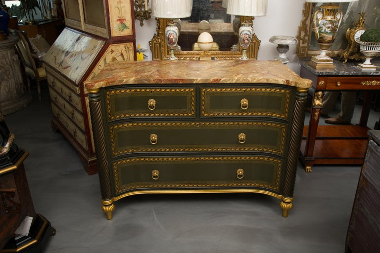 19th Century English Regency Chest of Drawers  Later Custom Painted For Sale 8