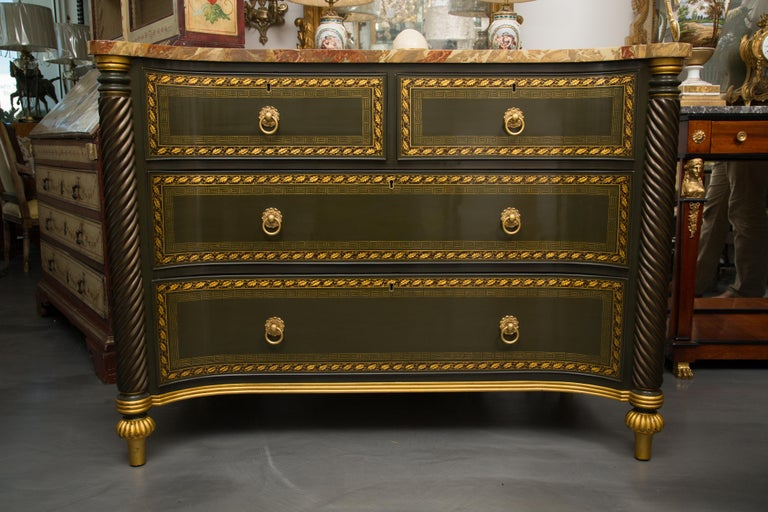 19th Century English Regency Chest of Drawers  Later Custom Painted For Sale 9