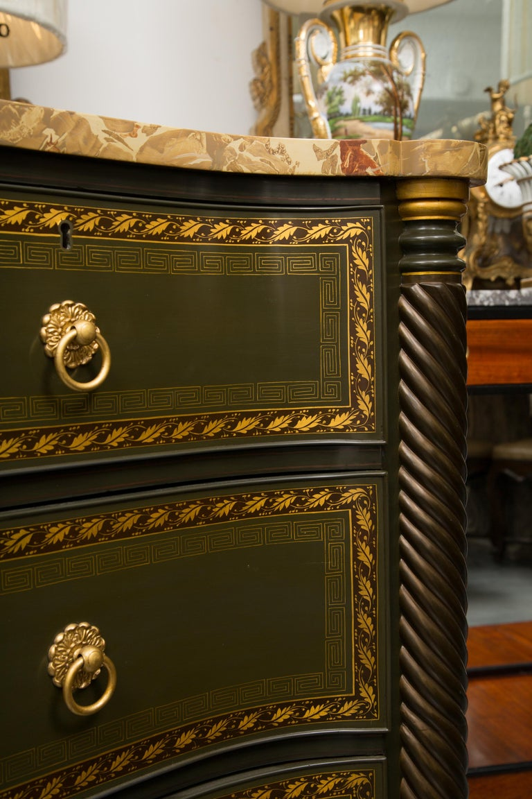 19th Century English Regency Chest of Drawers  Later Custom Painted For Sale 1
