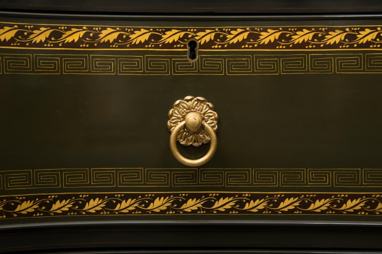 19th Century English Regency Chest of Drawers  Later Custom Painted For Sale 3
