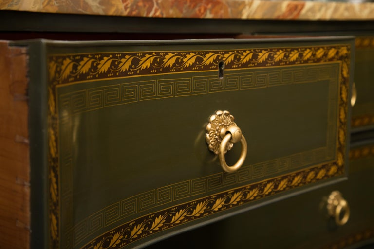 19th Century English Regency Chest of Drawers  Later Custom Painted For Sale 4